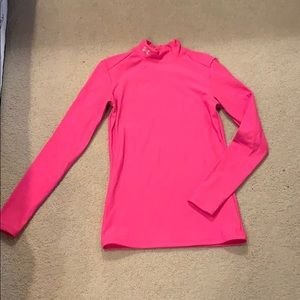 Under Armour fitted pink long sleeve. Size small